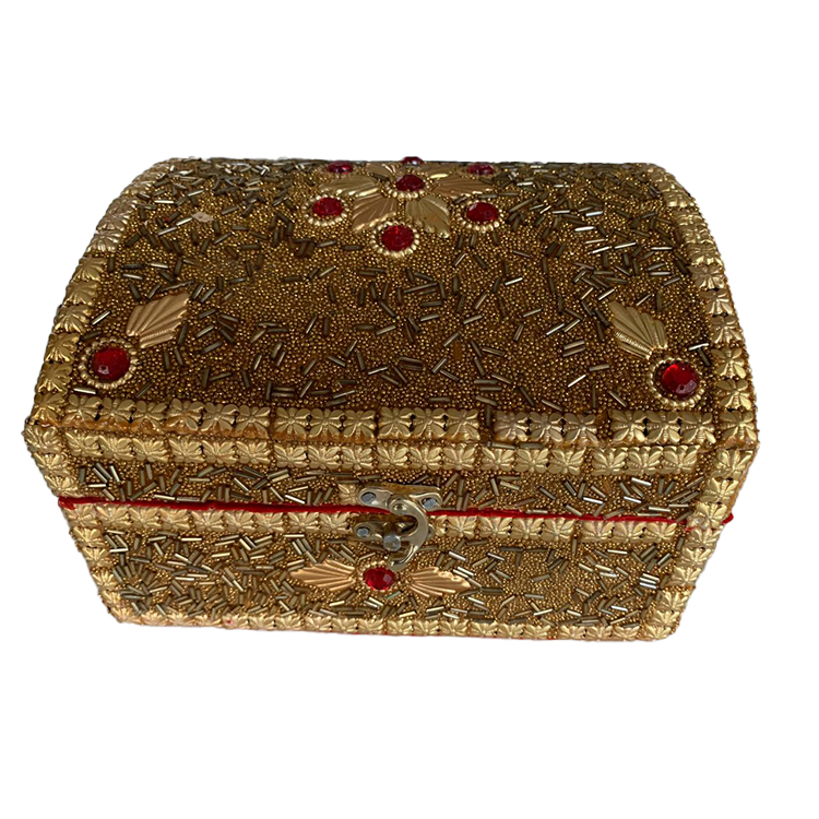 Hand CraftedGoldenGift Box - Large