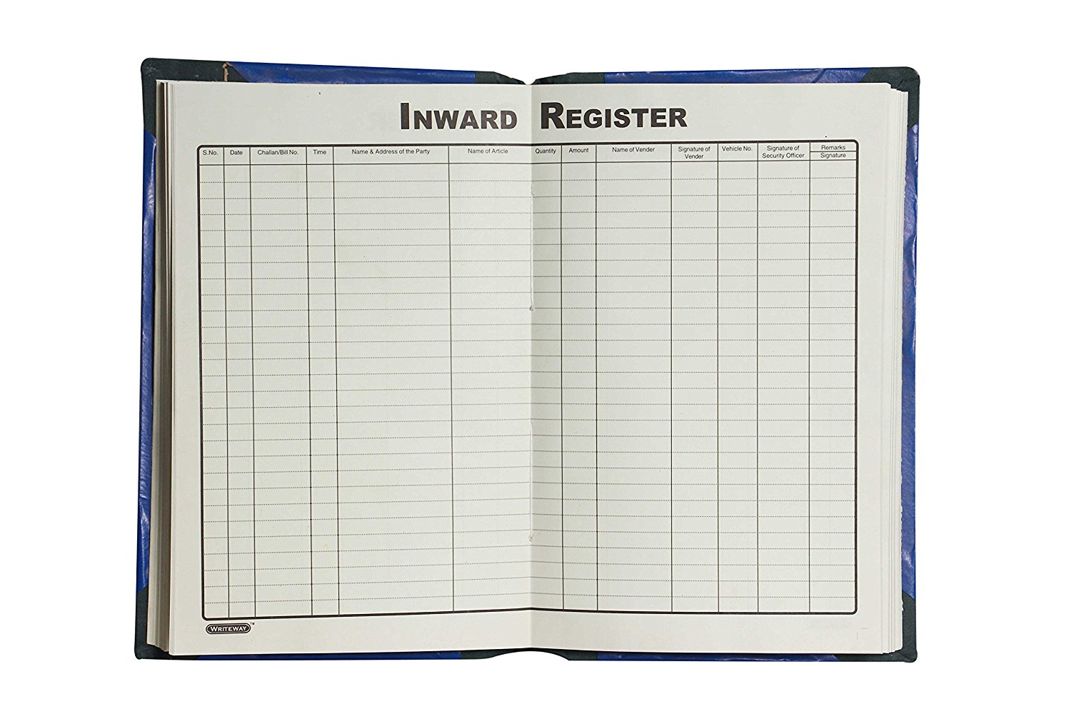 Inward Register, Rexine Binding, 384 Pages 8 Qr