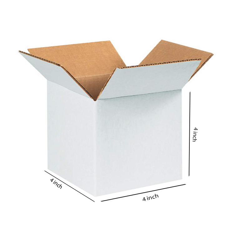 White Small Cube Box, 3Ply, (4