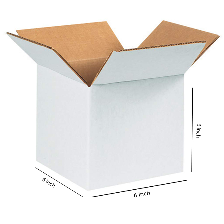 White Small Cube Box, 3Ply, (6