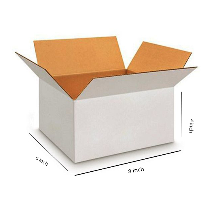 White Small Cube Box, 3Ply, (8