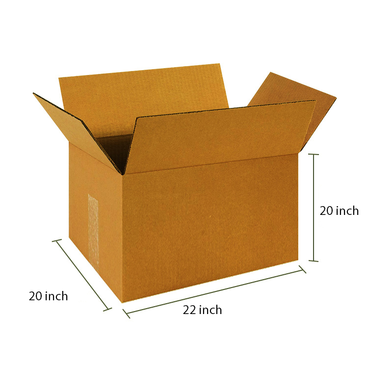 Brown Cube Box, 5Ply, (22