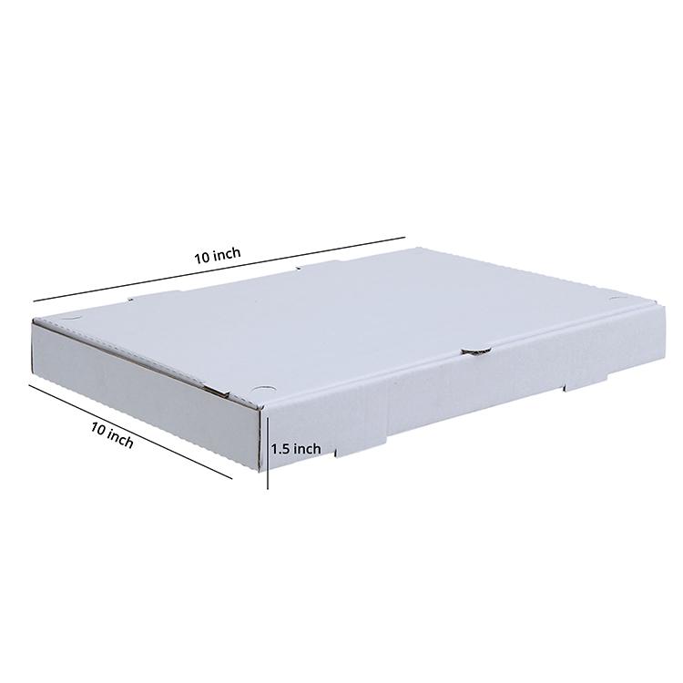 White Pizza Box , 3 Ply, (10