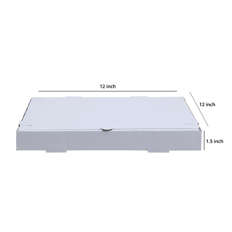 White Pizza Box , 3 Ply, (12