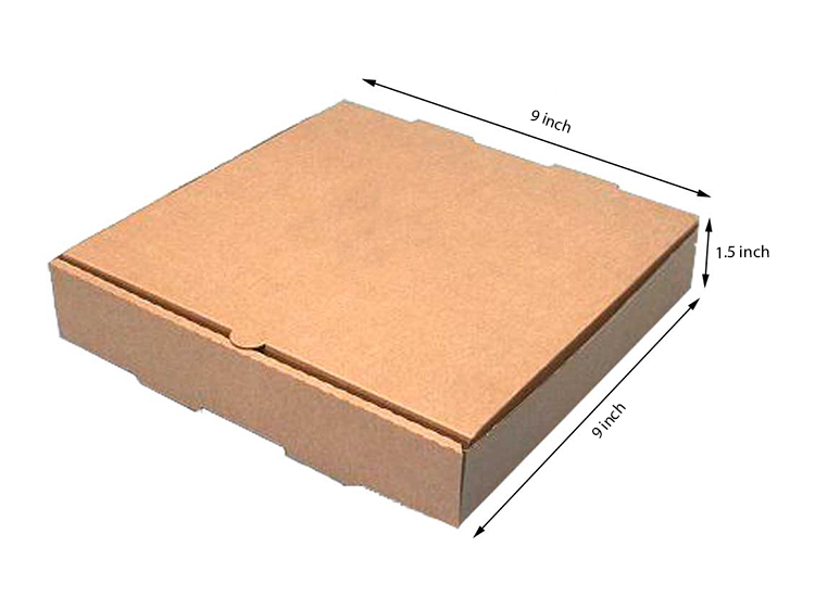 Brown Pizza Box , 3 Ply, (9