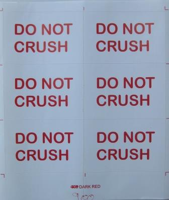 Do not Crush Sticker