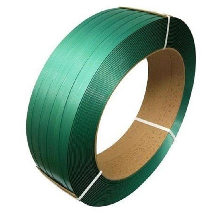 PET Strapping Green Roll /  Box Strap , 20kg -12mm
