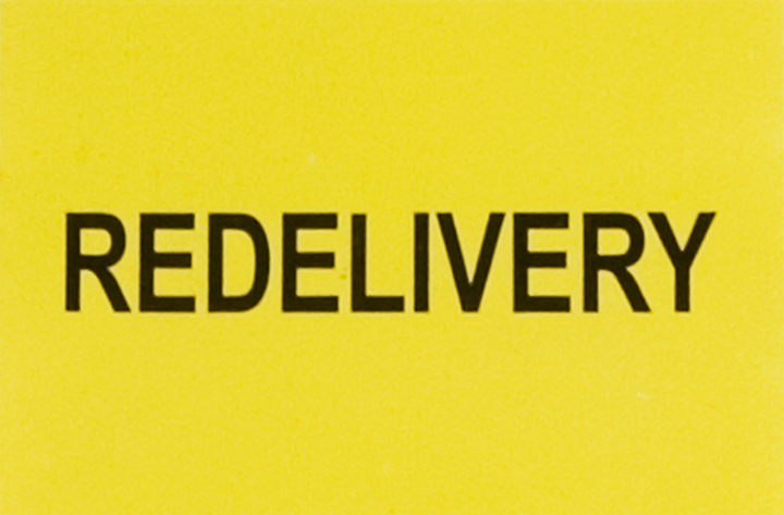 Redelivery Sticker