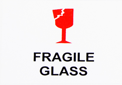 Fragile Glass Sticker