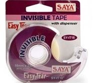 Invisible Tape with Dispenser, 18mmx30m+18B, Pack of 2