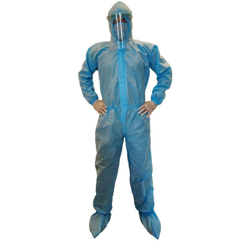 PPE Suits, Blue, 75GSM, 3Ply