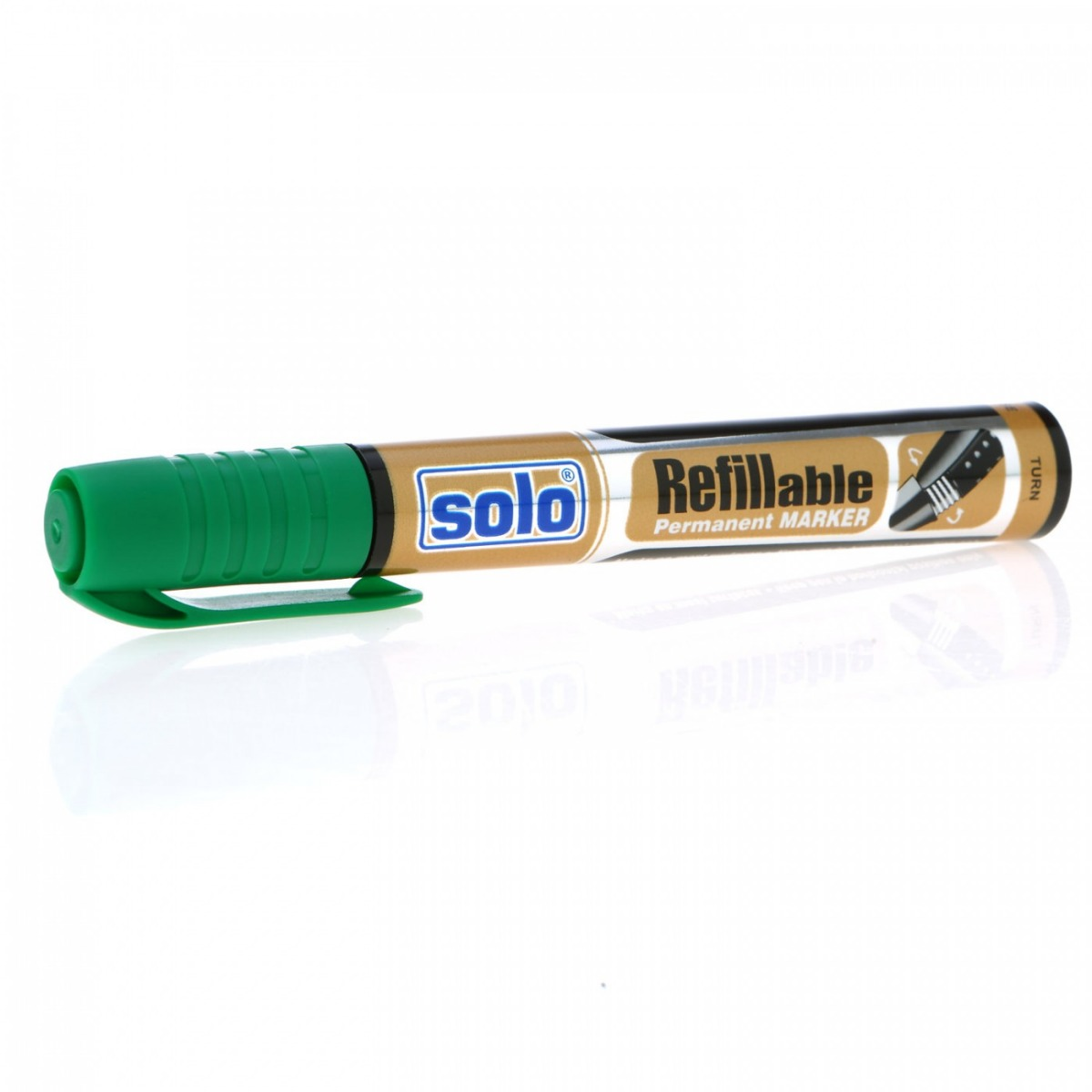 Refillable Permanent Marker Pen- Green