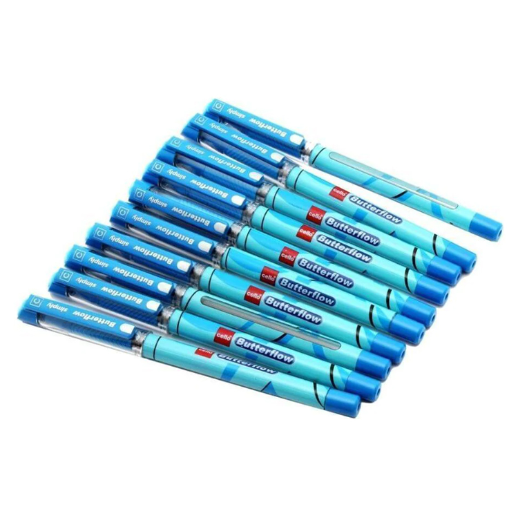 Cello Butterflow Simply Ball Pen, Blue.