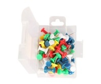 50 Pcs Push Pins - Soild Color, Pack of 12