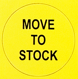 Move to Stock Sticker, Pack of 100