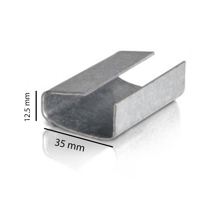 Aluminium Strapping Clips, Pack of 100