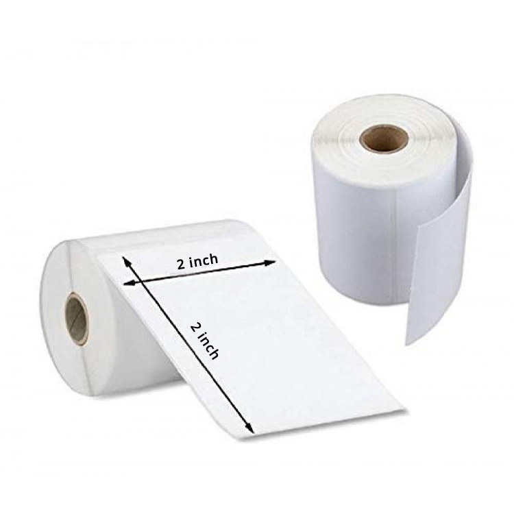 Self Adhesive Direct Thermal Plain Labels Stickers (2