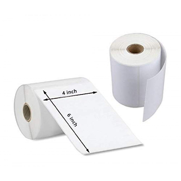 Self Adhesive Direct Thermal Plain Labels Stickers (4