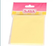 Saya Stick-eee Note Pads - Yellow, Pack of 18