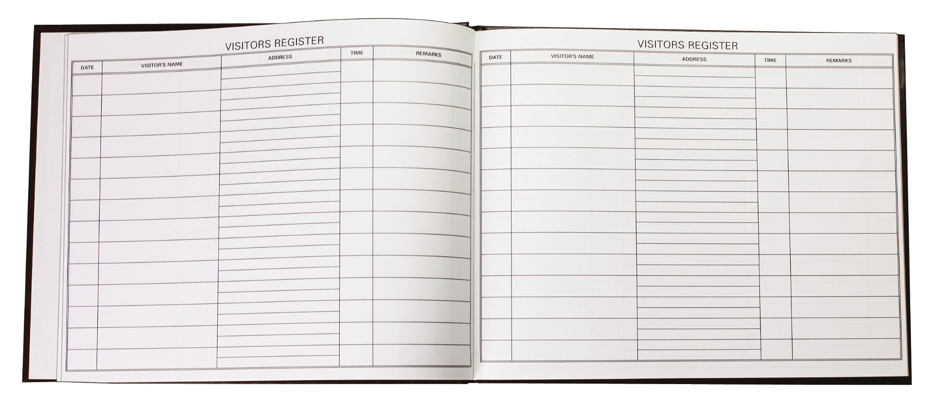 Visitor Register-Rexine Binding, 384 Pages 8 Qr