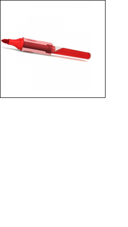 White Board Marker Pen - Red, Pack of 10