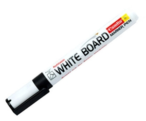 Camlin Plastic Body White Board Marker, Black, Pack of 10