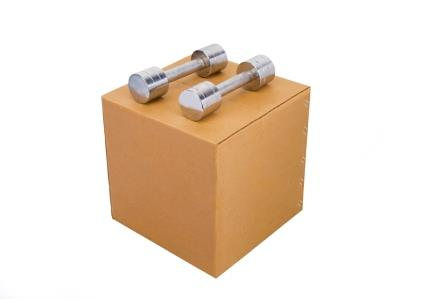 Heavy Duty Brown Cube Box, 7 Ply, Pack of 10