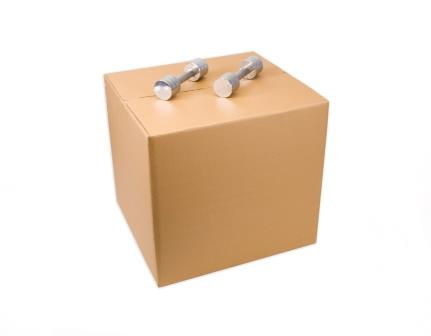 Heavy Duty Brown Cube Box, 7 Ply